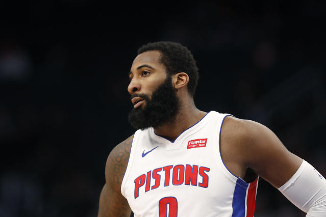 "<a class=""link rapid-noclick-resp"" href=""/nba/players/5015/"" data-ylk=""slk:Andre Drummond"">Andre Drummond</a> paid more than an extra couple bucks for his avocado. (AP Photo/Carlos Osorio)"
