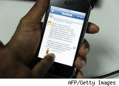 Using Facebook on a hand-held device