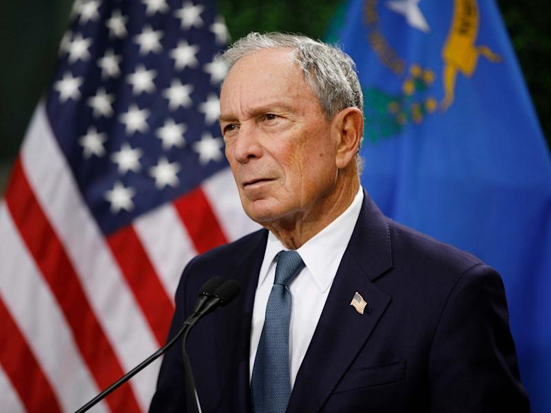 Former New York City Mayor Michael Bloomberg speaks at a news conference at a gun control advocacy event in Las Vegas: AP