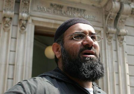 Leader of the dissolved militant group al-Muhajiroun, Anjem Choudary, arrives at Bow Street Magistrates Court in London