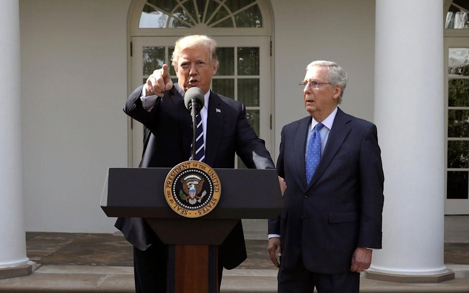 Senate Majority Leader Mitch McConnell would reportedly be 'pleased' if Donald Trump were impeached