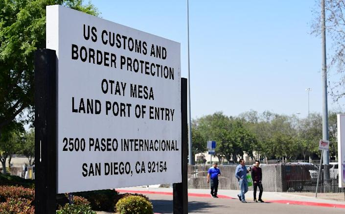Democrats have slammed President Donald Trump's tactic of using tariff threats to press Mexico to curb the northward flow of migrants before they reach border points like this one in California (AFP Photo/Frederic J. BROWN)