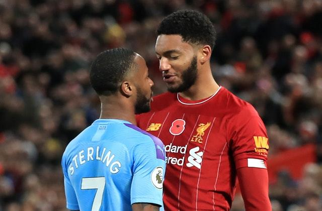A fracas involving Manchester City forward Raheem Sterling, left, and Liverpool defender Joe Gomez, right, dominated the build-up to England's final two Euro 2020 qualifiers (Peter Byrne/PA)