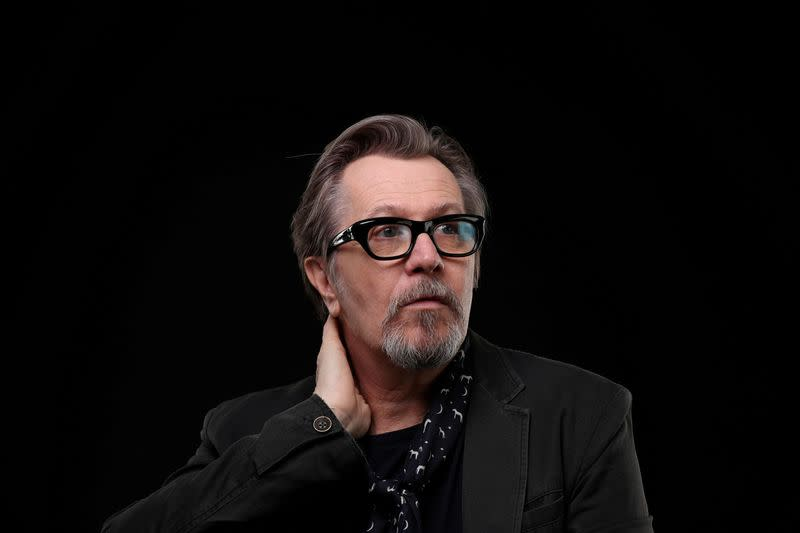 """FILE PHOTO: British actor Gary Oldman, who stars in the film """"Darkest Hour"""" about Winston Churchill, poses for a portrait in Beverly Hills"""