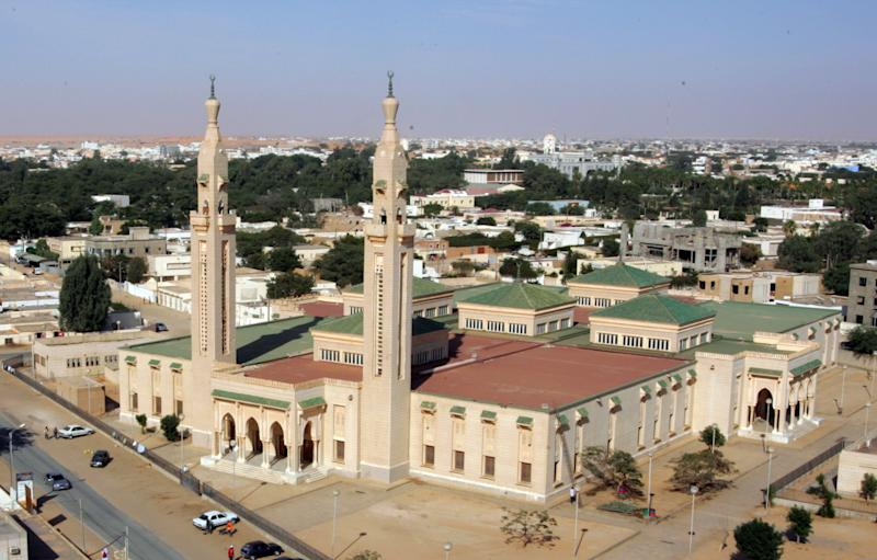 A picture from February 7, 2008 shows the central Saudi Mosque in Nouakchott (AFP Photo/Georges Gobet)