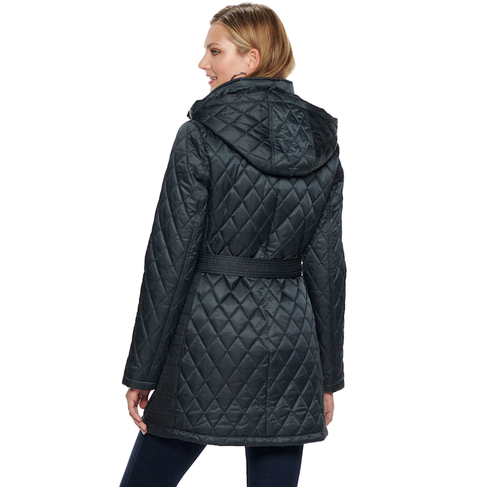 "<br><br><strong>Nine West</strong> Hooded Diamond-Quilted Belted Jacket, $, available at <a href=""https://go.skimresources.com/?id=30283X879131&url=https%3A%2F%2Fwww.kohls.com%2Fproduct%2Fprd-3803405%2Fwomens-nine-west-hooded-diamond-quilted-belted-jacket.jsp"" rel=""nofollow noopener"" target=""_blank"" data-ylk=""slk:Kohl's"" class=""link rapid-noclick-resp"">Kohl's</a>"