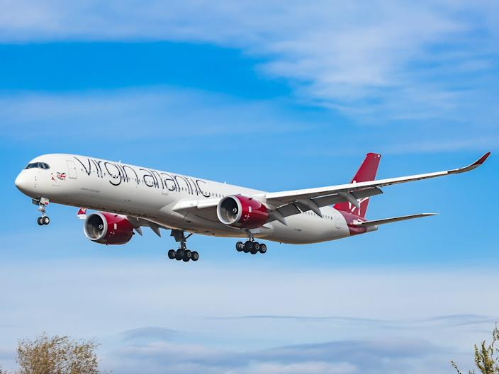 A Virgin Atlantic Airways Airbus A350-1000 XWB.