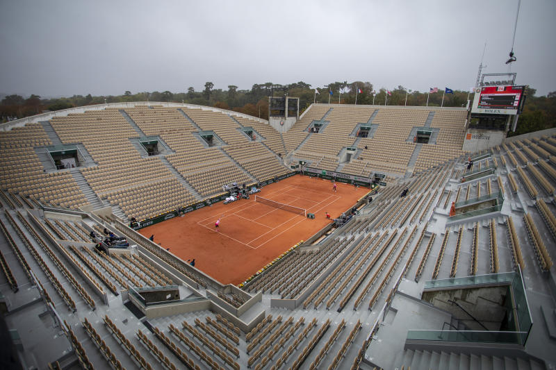 Victoria Azarenka, pictured here in action against Danka Kovinic at the French Open.