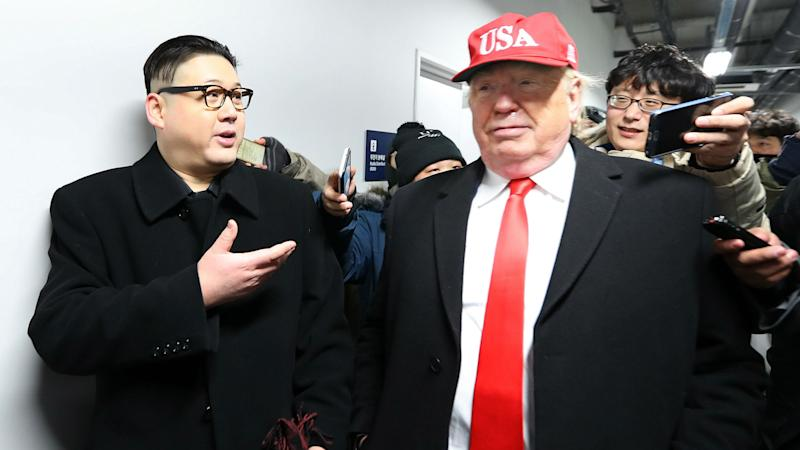 Winter Olympics 2018: Kim Jong Un impersonator makes another appearance
