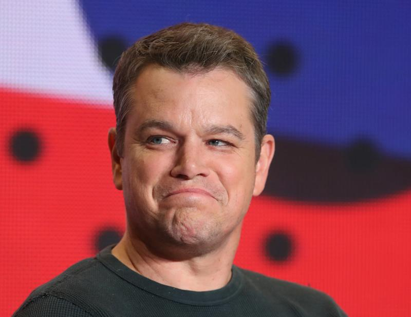 """""""As the father of four daughters, this is the kind of sexual predation that keeps me up at night,"""" actor Matt Damon said of the allegations against producer Harvey Weinstein. (Fred Thornhill/Reuters)"""