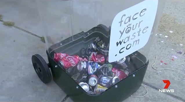 The council hopes the clear bins will start a conversation between neighbours. Source: 7 News