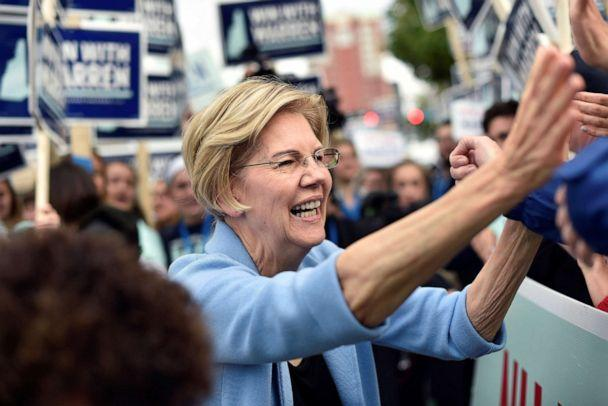 PHOTO: Democratic presidential candidate and Senator Elizabeth Warren greets supporters at the New Hampshire Democratic Party state convention in Manchester, N.H., Sept. 7, 2019. (Gretchen Ertl/Reuters)