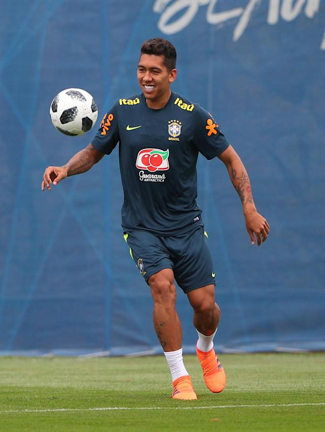 Soccer Football - World Cup - Brazil Training - Brazil Training Camp, Sochi, Russia - June 23, 2018 Brazil's Roberto Firmino during training REUTERS/Hannah Mckay