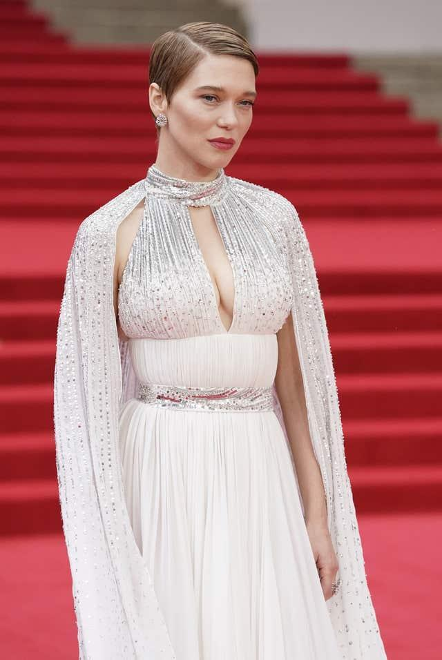 Lea Seydoux attending the World Premiere of No Time To Die