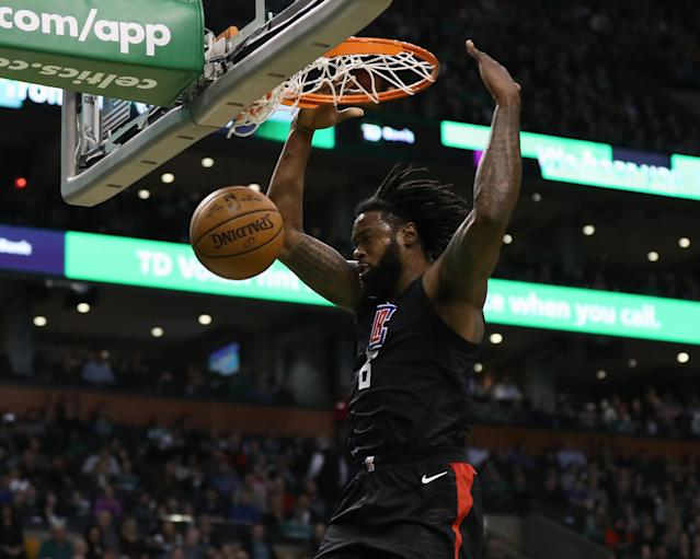 "<a class=""link rapid-noclick-resp"" href=""/ncaaf/players/255448/"" data-ylk=""slk:DeAndre Jordan"">DeAndre Jordan</a> has been a Clipper for a decade. (Getty Images)"