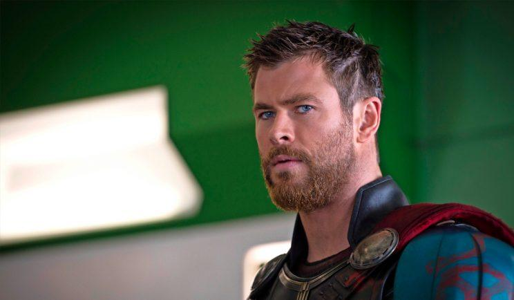 Thor suits up for combat in Thor: Ragnarok - Credit: Empire