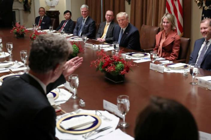 FILE PHOTO: U.S. President Trump hosts luncheon with UN Security Council representatives at the White House in Washington