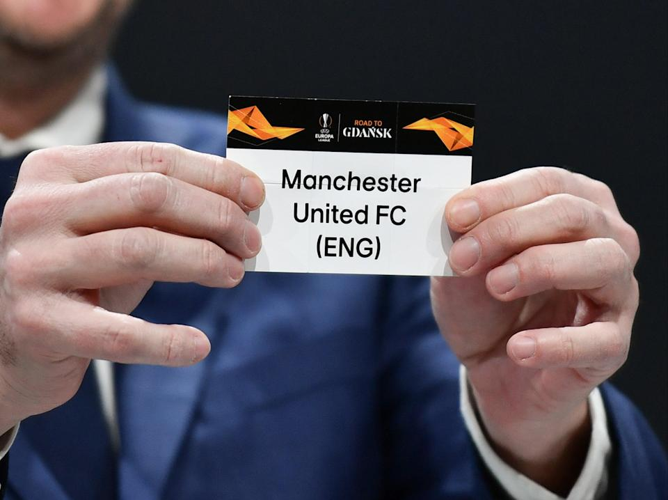 Manchester United are one of three Premier League clubs left in the tournament (AFP via Getty Images)