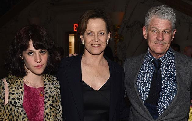 Family first: Sigourney with husband Jim Simpson and their daughter Charlotte. Source: Getty