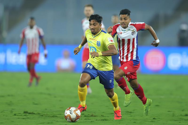 Jessel Carneiro of Kerala Blasters against ATK