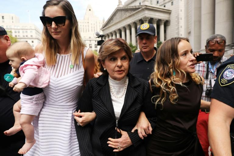 """Attorney Gloria Allred (center) says Harvey Weinstein's lawyers will """"try to do everything"""" to attack the credibility of the witnesses"""