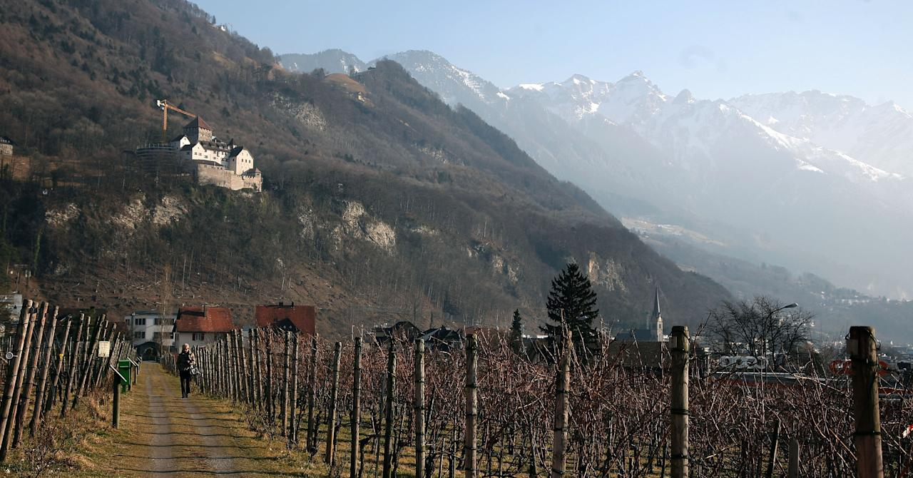 VADUZ, LIECHTENSTEIN - FEBRUARY 16:  General outside view of Liechtenstein Castle, home of the Princes of Liechtenstein, seen on February 16, 2008 in Vaduz, Liechtenstein. The ministate is known as financial loophole for tax evaders from various countries. In this way German Klaus Zumwinkel, CEO of Deutsche Post AG, the world's largest global delivery company, has been  accused for transferring about 1 Million Euro black money to Liechtenstein LGT bank.  (Photo by Johannes Simon/Getty Images)