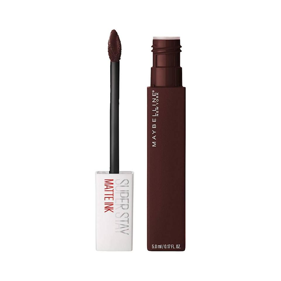 """<p>A dark lipstick option you can easily pick up your next trip to the drugstore is the <product href=""""https://www.target.com/p/maybelline-superstay-matte-ink-liquid-lipstick-mover-0-17-fl-oz/-/A-76466212?ref=tgt_adv_XS000000&amp;AFID=google_pla_df&amp;fndsrc=tgtao&amp;CPNG=PLA_Beauty%2BPersonal+Care%2BShopping_Local&amp;adgroup=SC_Health%2BBeauty&amp;LID=700000001170770pgs&amp;network=g&amp;device=c&amp;location=9032156&amp;ds_rl=1246978&amp;ds_rl=1248099&amp;gclid=Cj0KCQjwk8b7BRCaARIsAARRTL6TUXPxEkKp8MWPBqusBW-wR1DYTLQFJsfqwTftVv_NbYtHhd618x0aArUVEALw_wcB&amp;gclsrc=aw.ds"""" target=""""_blank"""" class=""""ga-track"""" data-ga-category=""""internal click"""" data-ga-label=""""https://www.target.com/p/maybelline-superstay-matte-ink-liquid-lipstick-mover-0-17-fl-oz/-/A-76466212?ref=tgt_adv_XS000000&amp;AFID=google_pla_df&amp;fndsrc=tgtao&amp;CPNG=PLA_Beauty%2BPersonal+Care%2BShopping_Local&amp;adgroup=SC_Health%2BBeauty&amp;LID=700000001170770pgs&amp;network=g&amp;device=c&amp;location=9032156&amp;ds_rl=1246978&amp;ds_rl=1248099&amp;gclid=Cj0KCQjwk8b7BRCaARIsAARRTL6TUXPxEkKp8MWPBqusBW-wR1DYTLQFJsfqwTftVv_NbYtHhd618x0aArUVEALw_wcB&amp;gclsrc=aw.ds"""" data-ga-action=""""body text link"""">Maybelline New York Superstay Matte Ink Liquid Lipstick in Mover</product> ($8). Not only is the shade gorgeous - a deep plumy mauve with blue undertones that works on a wide variety of skin tones - the <a href=""""https://www.popsugar.com/beauty/best-long-lasting-lipsticks-47153458"""" class=""""ga-track"""" data-ga-category=""""internal click"""" data-ga-label=""""https://www.popsugar.com/beauty/best-long-lasting-lipsticks-47153458"""" data-ga-action=""""body text link"""">formula is one of the longest lasting</a> on the market, according to makeup artist Grace Lee.</p>"""