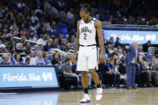 Though he frequently used the same pilot as Kobe Bryant, Kawhi Leonard isn't sure if he'll keep flying in the wake of Bryant's death. (Michael Reaves/Getty Images)