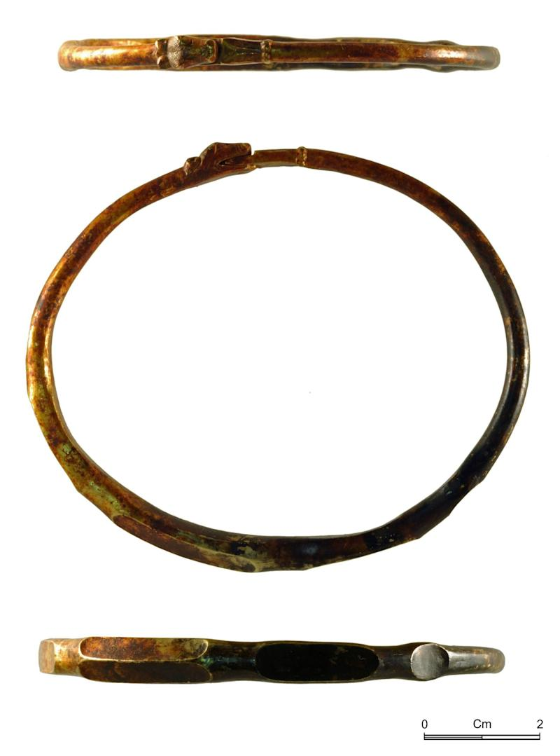 An arm bangle with a dragon's head (PA)