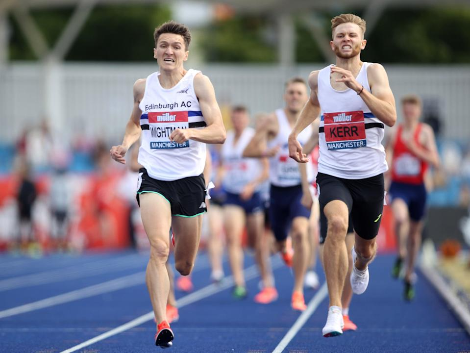 Jake Wightman and Josh Kerr fight it out in the men's 1,500m at the British Athletics Championships (Action)