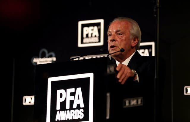 Gordon Taylor says the PFA is happy to lead on lobbying government for tougher sentencing for those found guilty of racist abuse (Steven Paston/PA)