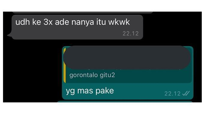 Chat Pacar. (Sumber: Twitter/ @shewoffy)