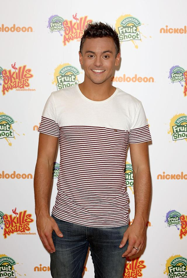 LONDON, ENGLAND - SEPTEMBER 07: Tom Daley attends the Nickelodeon Fruit Shoot Skills Awards 2013 at the IndigoO2 on September 7, 2013 in London, England. (Photo by Tim P. Whitby/Getty Images for Nickelodeon UK)