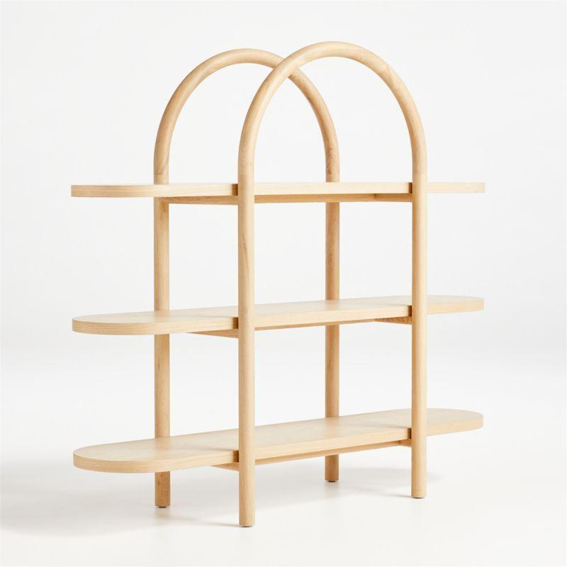 "<p><strong>crate and barrel</strong></p><p>crateandbarrel.com</p><p><strong>$499.00</strong></p><p><a href=""https://go.redirectingat.com?id=74968X1596630&url=https%3A%2F%2Fwww.crateandbarrel.com%2Fdolly-natural-wide-bookcase%2Fs630455&sref=https%3A%2F%2Fwww.countryliving.com%2Fshopping%2Fgifts%2Fg34112136%2Fleanne-ford-crate-and-barrel%2F"" rel=""nofollow noopener"" target=""_blank"" data-ylk=""slk:Shop Now"" class=""link rapid-noclick-resp"">Shop Now</a></p><p>A great spot to tuck away your kiddo's baskets of toys and line up their books. This whimsically designed bookshelf is the perfect example of something created for a child's room but fits right in more grown-up spaces, too. </p>"