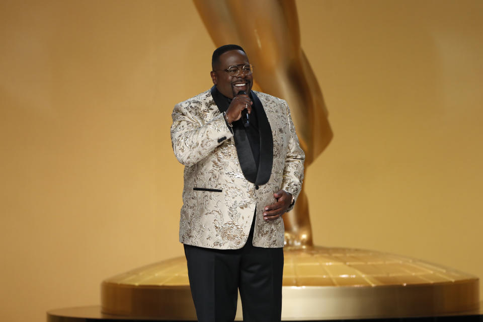 LOS ANGELES - SEPTEMBER 19: Cedric The Entertainer appears at the 73RD EMMY AWARDS, broadcast Sunday, Sept. 19 (8:00-11:00 PM, live ET/5:00-8:00 PM, live PT) on the CBS Television Network and available to stream live and on demand on Paramount+. (Photo by Cliff Lipson/CBS via Getty Images)