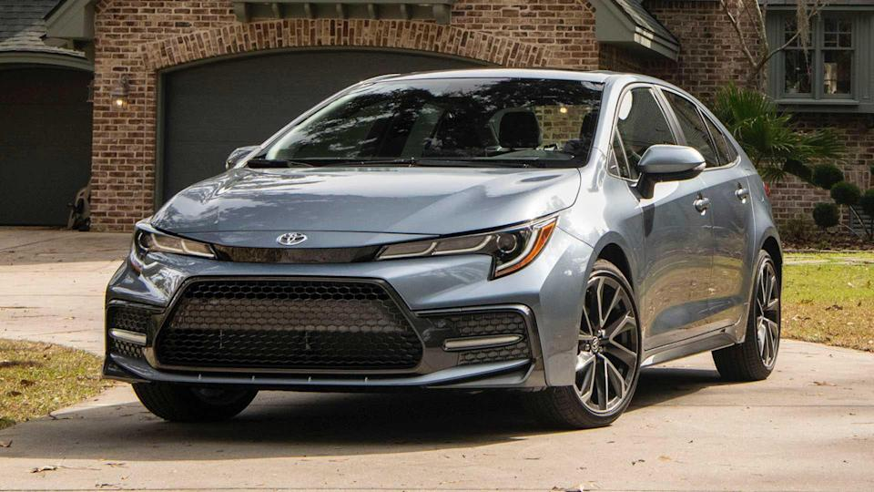 """<p><strong>Score: 6.3 / 10</strong></p> <p>The 2020 <a href=""""https://www.motor1.com/reviews/361756/2020-toyota-corolla-xse-review/"""" rel=""""nofollow noopener"""" target=""""_blank"""" data-ylk=""""slk:Toyota Corolla"""" class=""""link rapid-noclick-resp"""">Toyota Corolla</a> marks a big improvement over its predecessor, and the sporty-ish XSE model is one of the best available options. The Corolla XSE Sedan looks good, drives well, and is very efficient comparatively, returning up to 38 miles per gallon on the highway. But those sporty good looks do dampen ride quality, and technology isn't totally up to par compared to the rest of the class.</p> <br><a href=""""https://www.motor1.com/reviews/361756/2020-toyota-corolla-xse-review/"""" rel=""""nofollow noopener"""" target=""""_blank"""" data-ylk=""""slk:2020 Toyota Corolla XSE Review: Rockin' 'Rolla"""" class=""""link rapid-noclick-resp"""">2020 Toyota Corolla XSE Review: Rockin' 'Rolla</a><br>"""