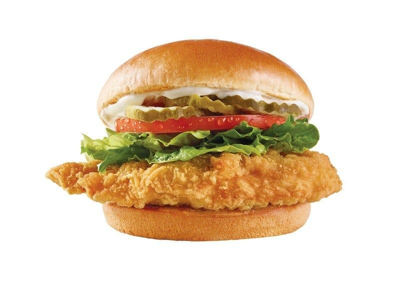 Wendy's new Classic Chicken Sandwich has a new premium fried chicken fillet, pickles, lettuce, tomatoes and mayo.