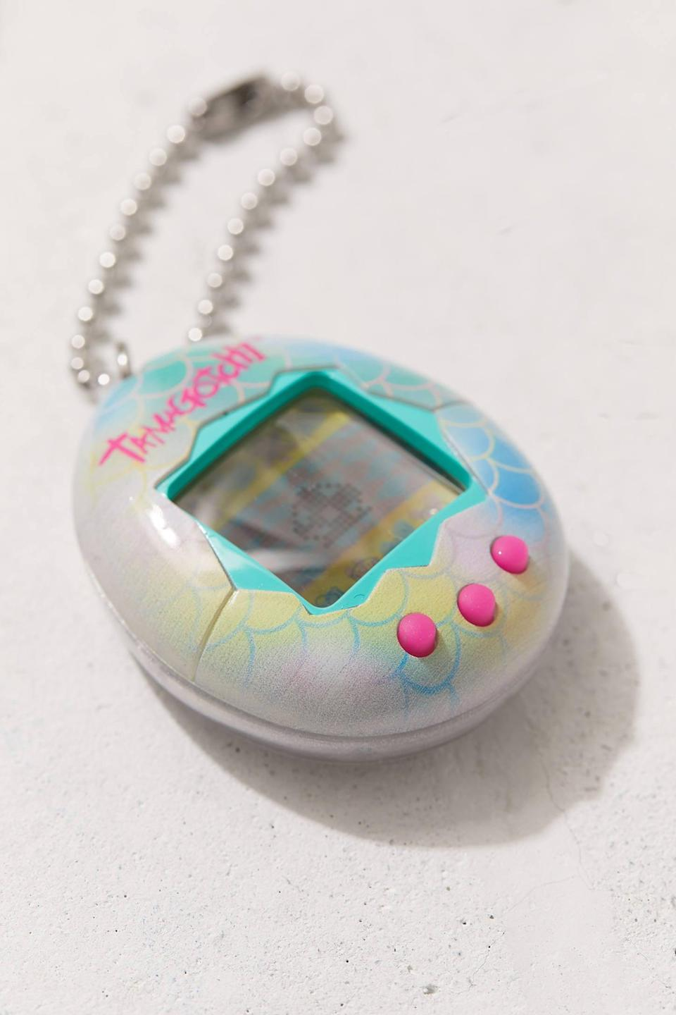 <p>Give the original virtual-reality pet, <span>Tamagotchi V5 Game</span> ($25), for someone who's been hankering for a cuddly companion. </p>