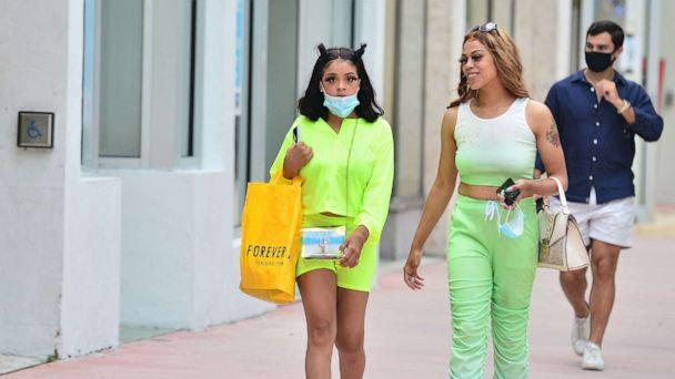 PHOTO: People walk through the Lincoln Road Mall, July 10, 2020, in Miami Beach, Florida. (Johnny Louis/Getty Images)