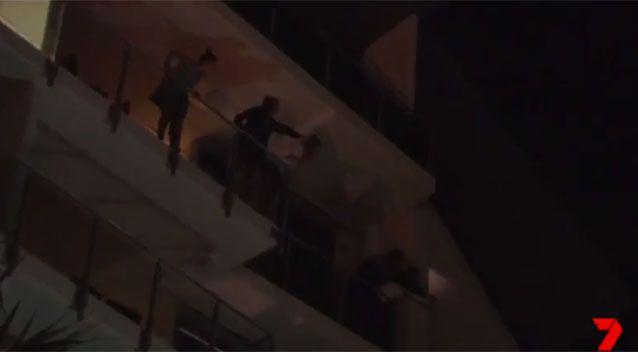 Neighbours helped point officers in the right direction. Source: 7News
