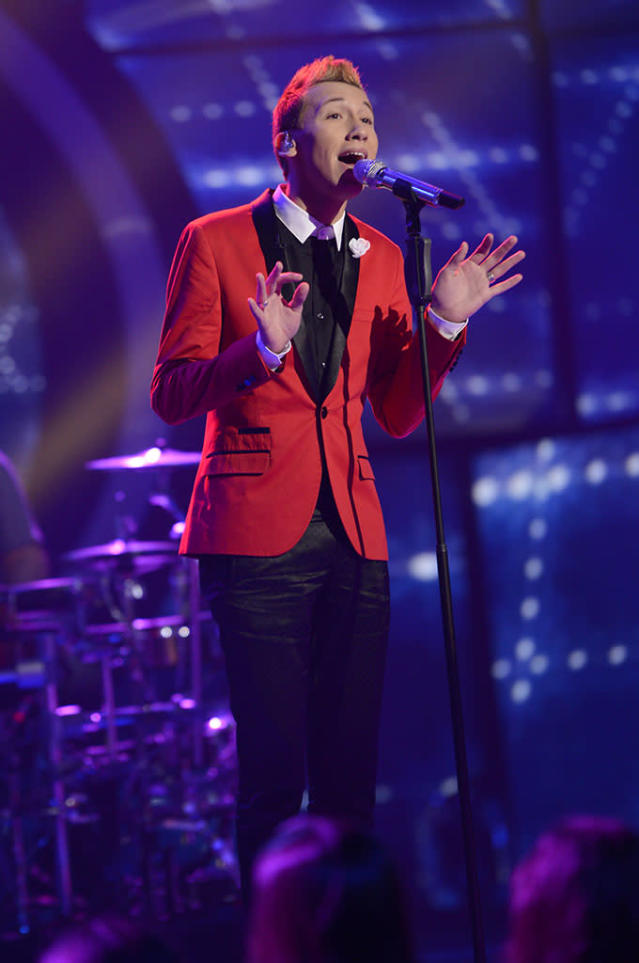"Devin Velez performs The Miracles' ""The Tracks of My Tears"" on the Wednesday, March 27 episode of ""American Idol."""