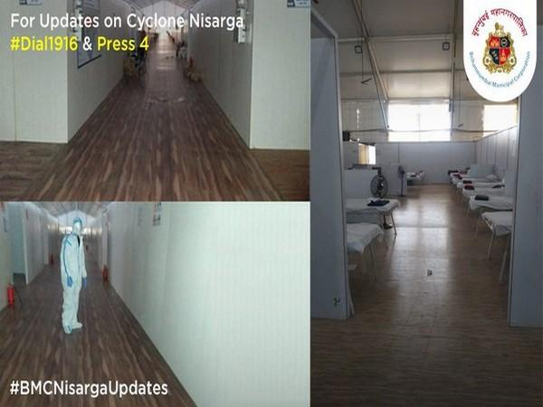 Pictures of Jumbo facility for COVID-19 patients shared by BMC. [Photo/BMC twitter]
