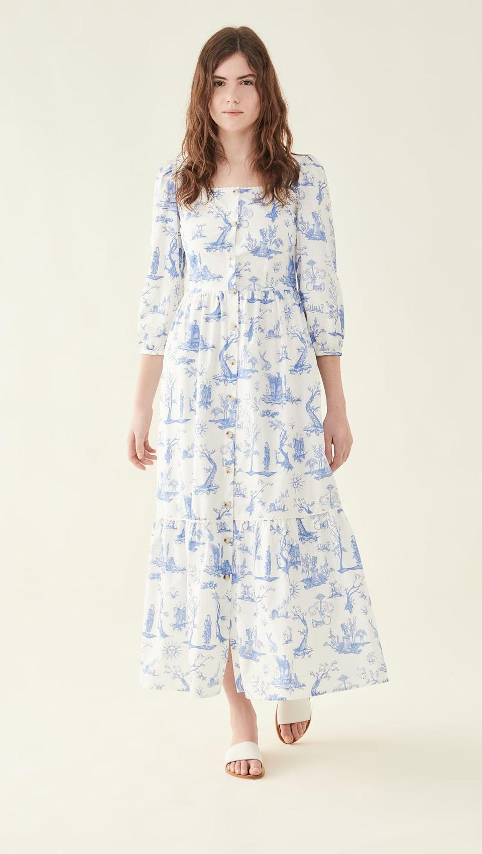 <p>The pattern on this <span>Meadows Ixora Dress</span> ($268) is so cute.</p>