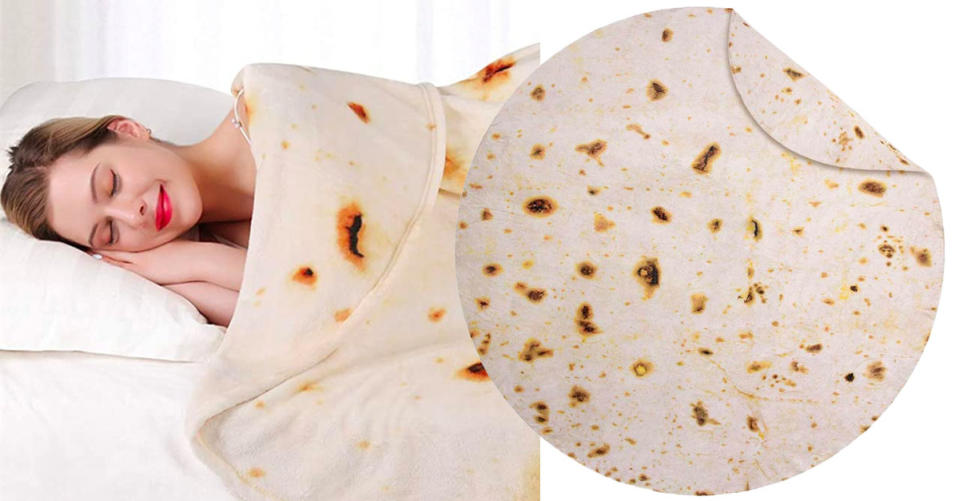 Jorbest Burritos Tortilla Blanket 2.0 Double Sided (Photo: Amazon)