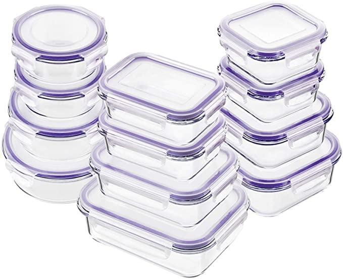 <p><span>Bayco Glass Food Storage Containers With Lids</span> ($39, originally $46)</p>