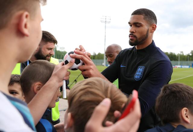 England players signed autographs after the session.