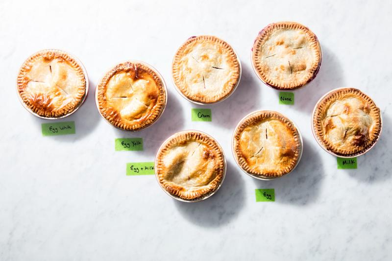 Glossy or matte, make your pie your own.