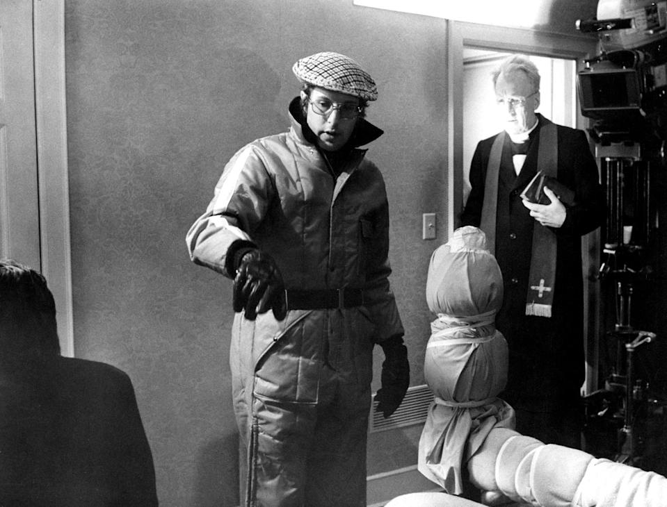 William Friedkin directing Max von Sydow on the set of <em>The Exorcist.</em> (Photo: Warner Bros./Courtesy of Everett Collection)