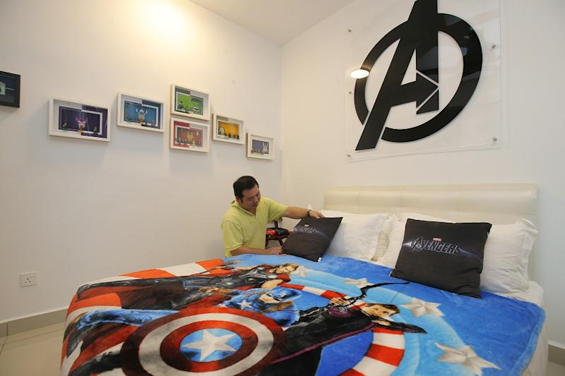 The homestay, run by Wong Wei Tze, offers guests the unique opportunity to share under the watchful eye of Iron Man, Captain America, Thor, and their stellar Avengers comrades. — Pictures by Marcus Pheong