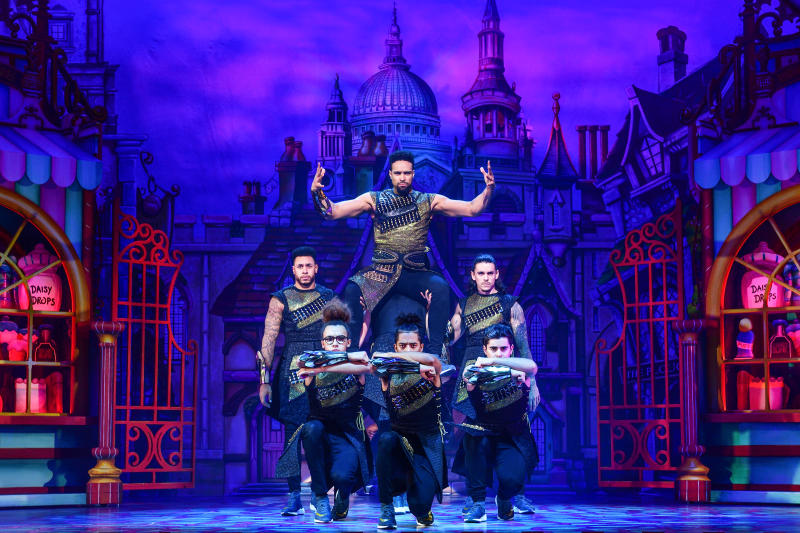 Ashley Banjo and Diversity as The Sultan and His Advisers
